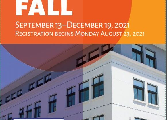 Registration for Fall 2021 Courses Opens August 23